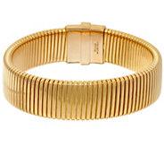 Bronze Tubogas Magnetic Clasp Bracelet by Bronzo Italia - J324125