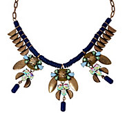 Susan Graver Blue Bead Statement Necklace - J324325