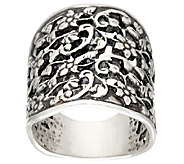 Sterling Silver Floral Lace Ring by Or Paz - J326625