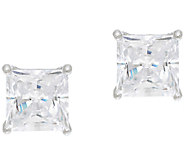 Diamonique 2.00ct tw Sterling Princess Studs with Box - J326725
