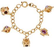 Arte d Oro 20.00 ct tw Gemstone 8 18K Gold Bracelet 21.5g - J328425