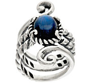 Carolyn Pollack Sterling Silver Labradorite Doublet Scroll Design Ring - J328825