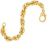 Judith Ripka 14K Clad Verona Textured Oval Link Bracelet 22.0g - J331325