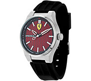 Ferrari Mens Black Silicone Strap Speciale 3H Watch - J334325