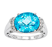 Sterling Choice of Faceted Horizontal Oval Gemstone Ring - J336625