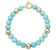 EternaGold 7-1/2 Gemstone & Bead Bracelet, 14KGold - J337425