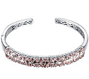 10.00cttw 11-Stone Pink Multi-Gemstone Cuff, Sterling - J338525