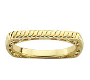 Simply Stacks Sterling & 18K Gold Plated Textured Square Ring - J338925