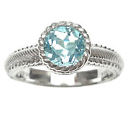 Judith Ripka Sterling 1.00cttw Blue Topaz Soliatire Ring - J339825