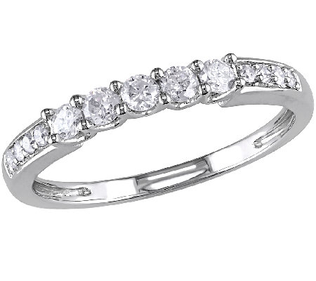 Diamond Wedding Band Ring 14K White Gold By Affinity
