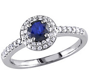 Sapphire & Diamond Ring, 14K White Gold,by Affinity - J341625