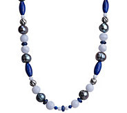 Carolyn Pollack Sterling Blue Gemstone 21 Necklace - J343825
