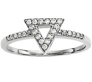 Dainty Designs 14K 1/7 cttw Diamond Triangle Ring - J345325