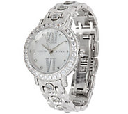 Judith Ripka Stainless Steel Bezel Set Diamonique Beekman Watch - J350125