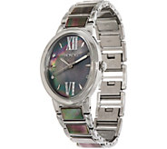 Honora Black Mother-of-Pearl Oval Case Stainless Steel Bracelet Watch - J350625