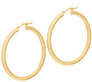 Italian Gold 1-1/2 Round Polished Hoop Earrings 14K Gold - J353725