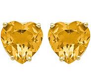 14K Heart Shaped Gemstone Post Earrings - J375025
