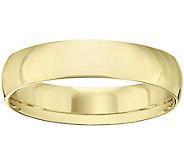 Womens 14K Yellow Gold 5mm Half Round WeddingBand - J375425