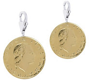 Vicenza Silver Sterling Set of 2 200-Lire CoinCharms - J375625