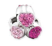 Prerogatives Sterling Shades of Pink Hearts Bead - J113226