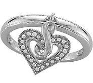 Heartistry Diamond Ring, Sterling, 1/10 cttw,by Affinity - J113926