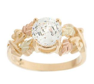 Product image of Black Hills 1.50ct100-Facet Diamonique Grape Leaf Ring 10K Gold