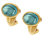 TOVA Simulated Aquamarine Earrings, 14K Clad - J281126