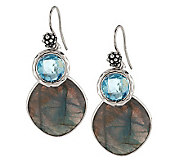 Michael Dawkins Sterling Labradorite & Sky Blue Topaz Dangle Earrings - J281426