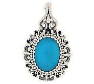 Carolyn Pollack Turquoise Sterling Filigree Enhancer - J283726