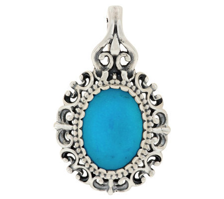Carolyn pollack turquoise sterling filigree enhancer for Carolyn pollack jewelry qvc