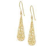 Adi Paz Filigree Teardrop Earrings 14K Gold - J289026