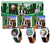 As Is Wizard of Oz Set of 3 Strap Watches - J292026