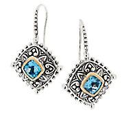 Barbara Bixby Sterling & 18K Blue Topaz Dangle Earrings - J292526