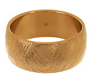 As Is Oro Nuovo Average Brushed Satin Textured Bangle 14K Gold - J292626