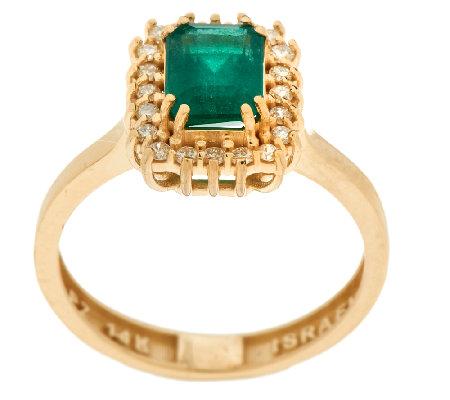 1 00 ct zambian emerald 1 7 cttw ring 14k gold