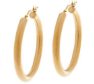As Is Oro Nuovo 1-1/2 Bold Polished Round Hoop Earrings, 14K - J294926
