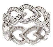 Diamonique 1.15cttw Eternal Heart Ring, Sterling - J295126
