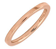 Simply Stacks Sterling 18K Rose Gold-Plated 2.25mm Flat Ring - J298926