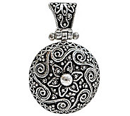 Artisan Crafted Sterling Round Floral Pendant - J309526