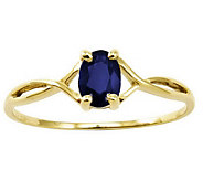 Birthstone Oval Solitare Ring, 14K Gold - J311826