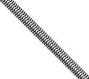 Stainless Steel 7 Polished Snake Chain Bracelet - J312026