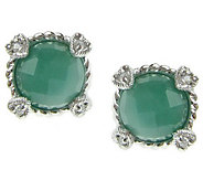 Judith Ripka Sterling Birthstone Stud Earrings - J312926