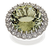 Sterling 15.00 cttw Amethyst & 1/10 cttw Diamond Ring - J315926