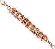 Bronze 6-3/4 Polished Woven Love Knot Bracelet by Bronzo Italia - J317126