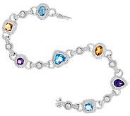 Judith Ripka Sterling 7 3/4 5.00 cttw Multi Gemstone Bracelet - J321026