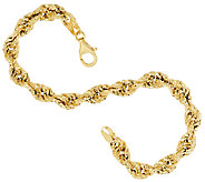 Vicenza Gold Textured Fancy 8 Rope Bracelet 5.0g - J323226