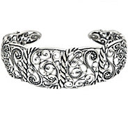 Carolyn Pollack Sterling Silver Signature Design Cuff 21.5g - J328826