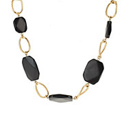 As Is Susan Graver Simulated Gemstone Link Necklace - J329226