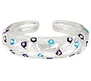 Franco P Sterling Stars 6.00 cttw Gemstone Cuff Bracelet - J330526