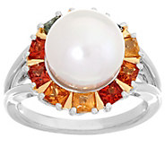 Honora Cultured Pearl Colors of Sapphire Sterling Silver Ring - J334926
